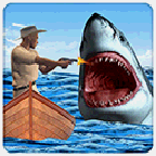 愤怒的白鲨攻击