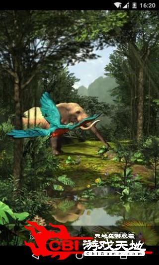 3D热带森林梦象壁纸主题图3
