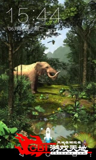 3D热带森林梦象壁纸主题图2