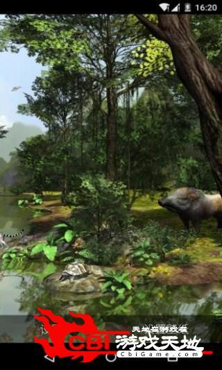 3D热带森林梦象壁纸主题图1