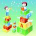 儿童宝宝玩积木