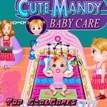 可爱的婴儿护理