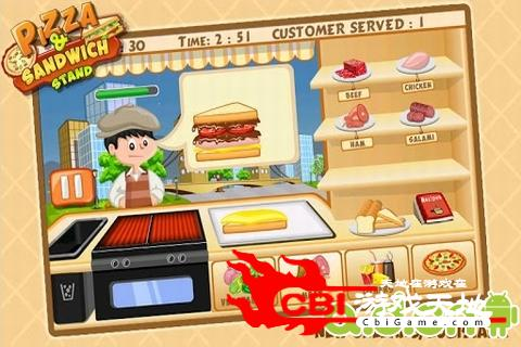 比萨三明治烹饪站图1
